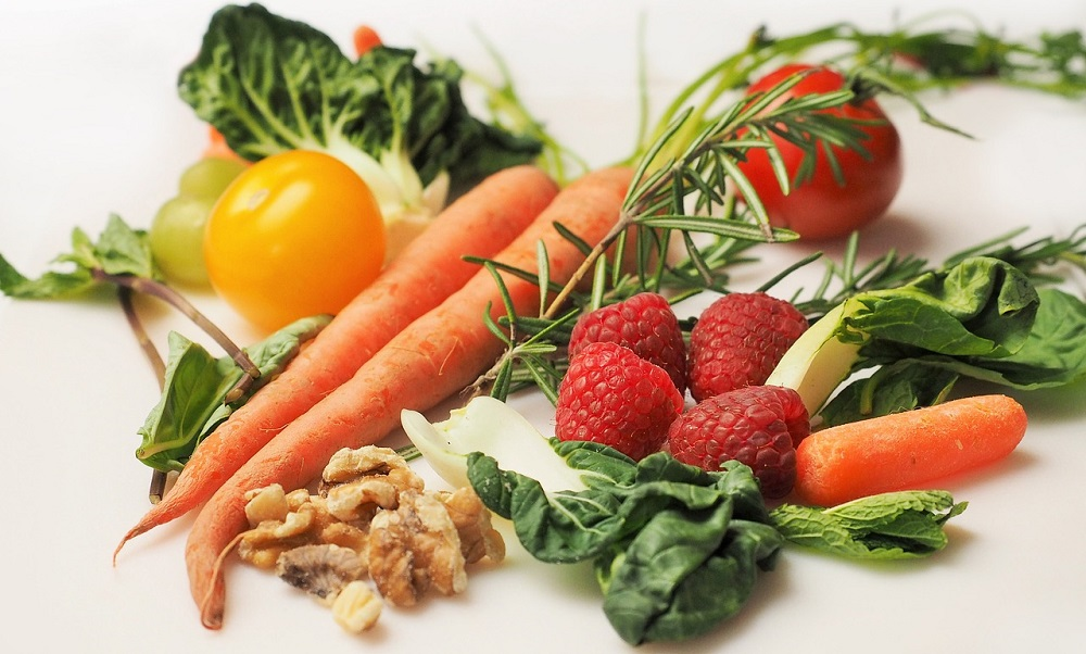 Close up of vegetables and fruit